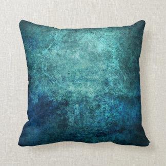 Grungy Blue Pillow