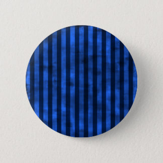 Grungy blue stripes 2 inch round button