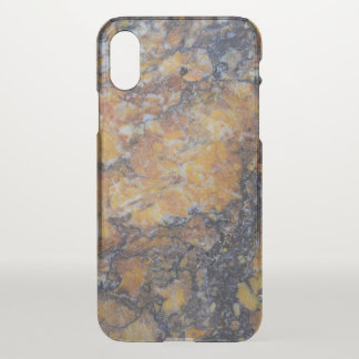 Grungy Brown Faux Marble Background iPhone X Case