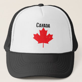 Grungy Canadian Maple Leaf Trucker Hat