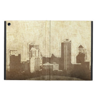 Grungy city background case for iPad air