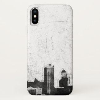 Grungy city background in black and white Case-Mate iPhone case