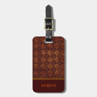 Grungy Crimson Pattern Luggage Tag