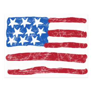 Grungy Flag Postcard