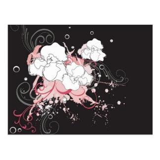 Grungy flowers Postcard
