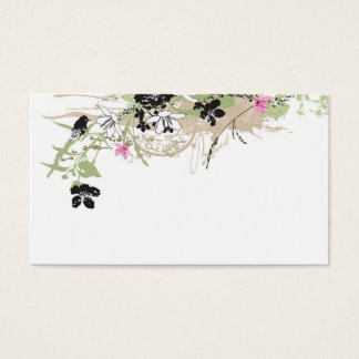 Grungy flowers Profile Card