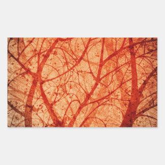 grungy forest sticker