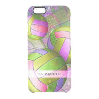 Grungy Girls' Volleyball Clear iPhone 6/6S Case