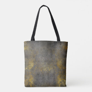 Grungy Golden Gray Cement Wall Paining Tote Bag