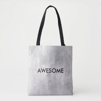 Grungy Golden Gray Silver Paining Success Words Tote Bag