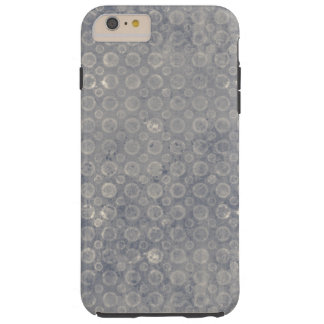 Grungy Gray Blue Circles Abstract Pattern Tough iPhone 6 Plus Case