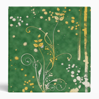 Grungy Green Abstract Pattern 3 Ring Binder