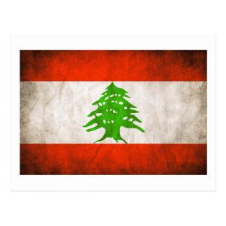 Grungy Lebanon Flag Postcard