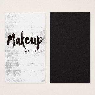 Grungy Makeup Artist Business Card