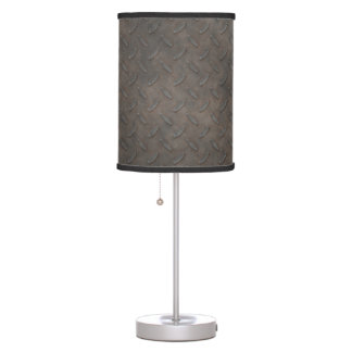 Grungy Metal Tread Plate Table Lamp