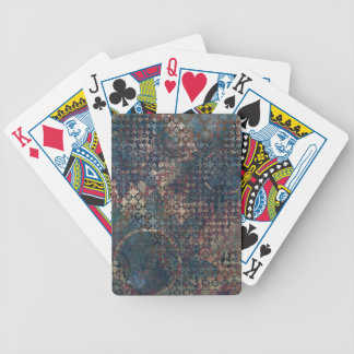 Grungy Patterns with Messy Patchwork of Textures Bicycle Playing Cards