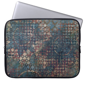 Grungy Patterns with Messy Patchwork of Textures Laptop Sleeve