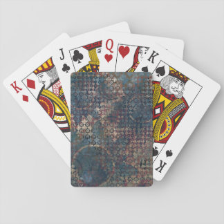 Grungy Patterns with Messy Patchwork of Textures Playing Cards