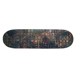 Grungy Patterns with Messy Patchwork of Textures Skateboard Decks