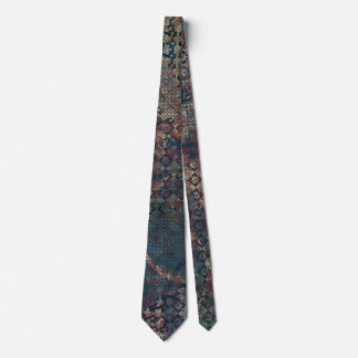Grungy Patterns with Messy Patchwork of Textures Tie