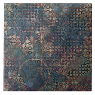 Grungy Patterns with Messy Patchwork of Textures Tile