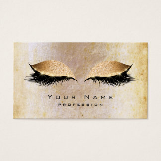 Grungy Pearl Beauty Gold Lashes Makeup Eye Glitter Business Card