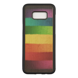 Grungy Rainbow Pattern Carved Samsung Galaxy S8+ Case