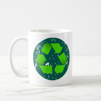 grungy recycle coffee mug