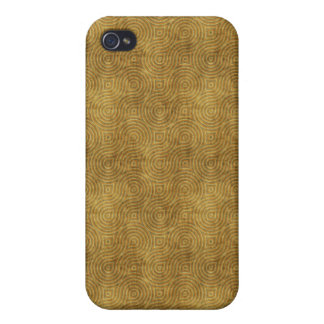 Grungy Retro Yellow Pern Case For The iPhone 4