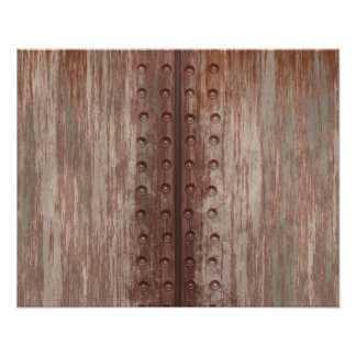 Grungy Riveted Rusty Metal Photo Art