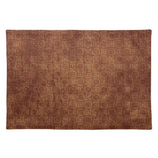 Grungy Rust Colored Pattern Design Placemat