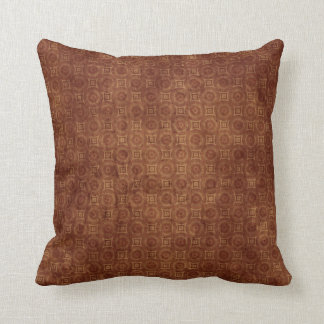 Grungy Rust Colored Pattern Design Throw Pillow