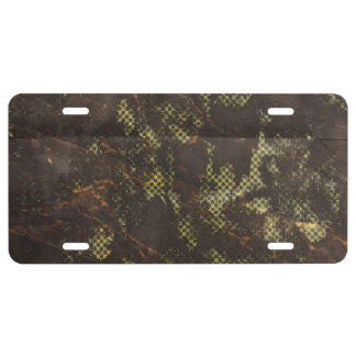 grungy rusty green halftone background license plate