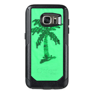 Grungy Sequined Palm Tree Image OtterBox Samsung Galaxy S7 Case