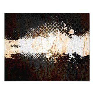 Grungy Splatter Design Photographic Print