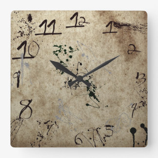Grungy Splattered Clock