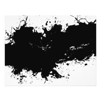 Grungy Splattered Ink Background Flyer