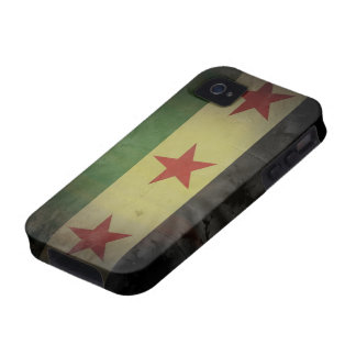 Grungy Syria Flag Vibe iPhone 4 Covers