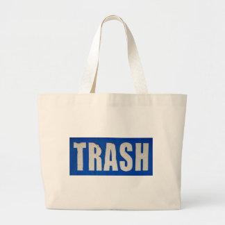 Grungy Trash Sign Tote Bag