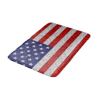 Grungy Usa Flag Bath Mat