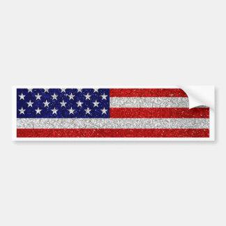 Grungy Usa Flag Bumper Sticker