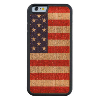 Grungy Usa Flag Carved Cherry iPhone 6 Bumper Case