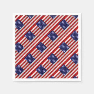 Grungy Usa Flag Disposable Napkins