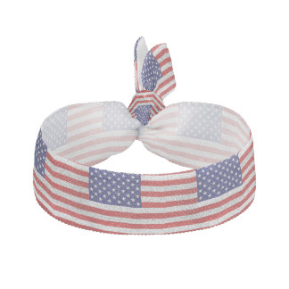 Grungy Usa Flag Hair Tie