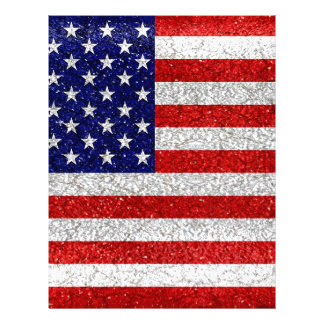 Grungy Usa Flag Letterhead