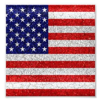Grungy Usa Flag Photo Print