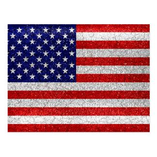 Grungy Usa Flag Postcard