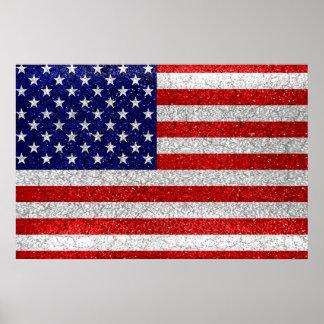 Grungy Usa Flag Poster