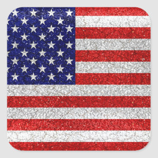 Grungy Usa Flag Square Sticker