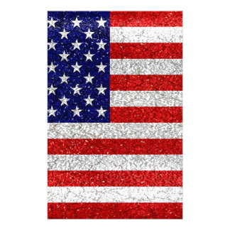 Grungy Usa Flag Stationery